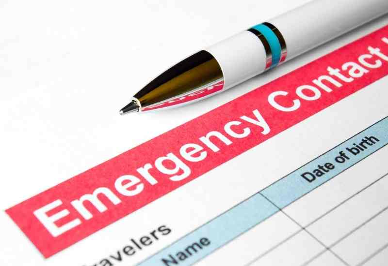 Emergency contact counseling intake form