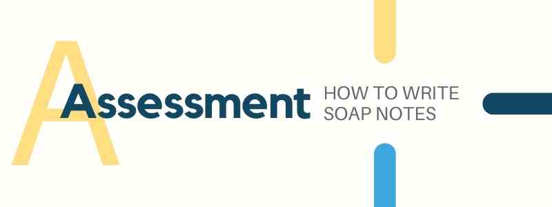 HOW TO WRITE SOAP NOTES Assessment