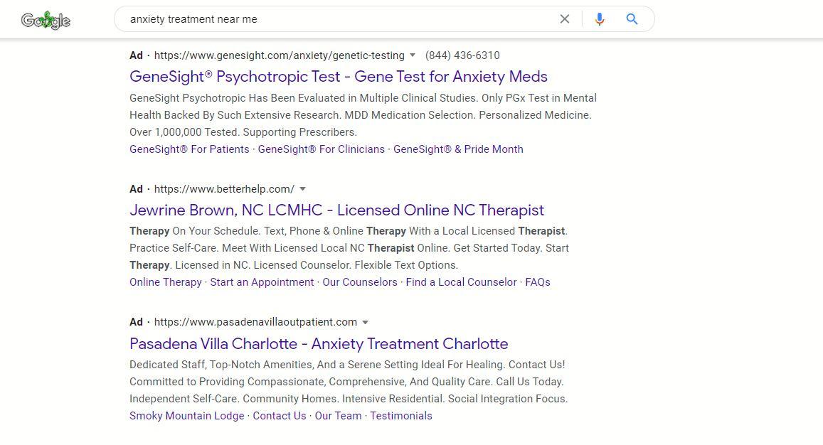 psychiatrist advertising